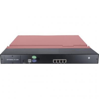 Inter-Tech AS-9104 TLS - QWERTY Rack console - Zwart
