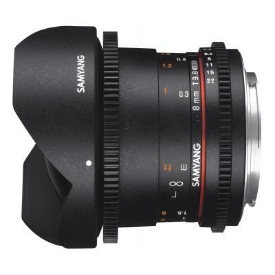 Samyang 8mm T3.8 VDSLR UMC Fish-eye CS II, Sony E Camera lens - Zwart