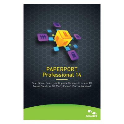 Nuance document management software: PaperPort Professional 14, 101-250u, 1y, WIN, MNT, GOV, FRE