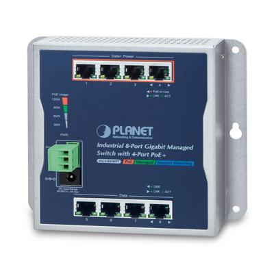 PLANET 8x 10/100/1000BASE-T RJ-45, PoE, 16 Gbit/s, 11.9 Mpps, 148 x 25 x 134 mm, 625 g Switch - Zwart