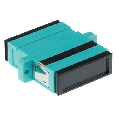 ACT Fiber optic SC-SC duplex adapter multimode Fiber optic adapter - Zwart,Cyaan