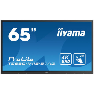 Iiyama 65'' Interactive 4K LCD Touchscreen with integrated annotation software Public display - Zwart