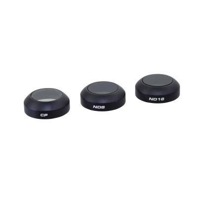 Polar pro filters camera filter: DJI Mavic filter 3-pack (CP, ND8 and ND16 filters) - Zwart