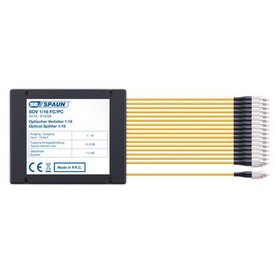Spaun SOV 1/16 FC/PC Kabel splitter of combiner - Zwart