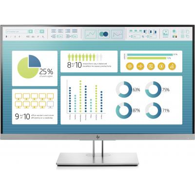 Hp monitor: EliteDisplay E273 - Zwart, Zilver