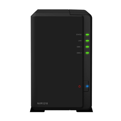 Synology NVR1218 12TB (2x6TB WD Purple HDD) - Zwart