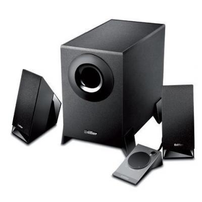 Edifier luidspreker set: M1360 - 2.1, RMS 2W x2+4.5W, 150 - 20000Hz, 10KΩ, 3.5mm, 2.5kg, black - Zwart