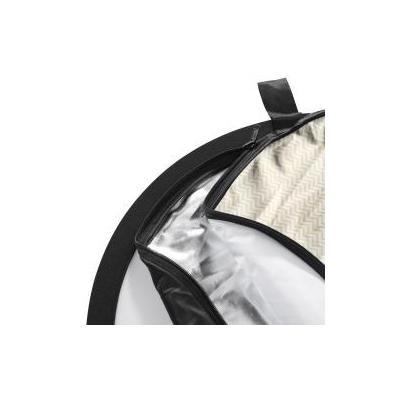 Walimex fotostudioreflector: 5in1 Foldable Reflector Set wavy, 150x200cm - Zwart, Goud, Zilver, Wit