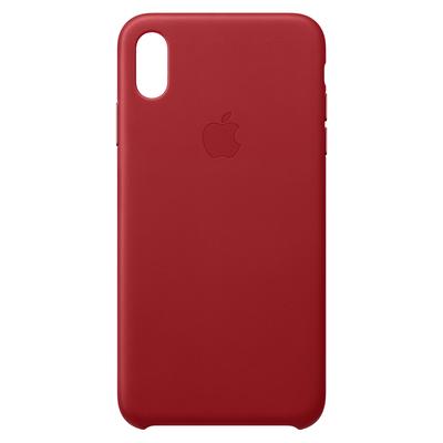 Apple Leren hoesje voor iPhone XS Max - (PRODUCT)RED mobile phone case - Rood