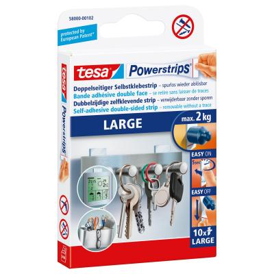 Tesa : Powerstrips LARGE - Wit