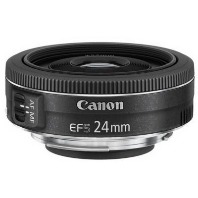 Canon camera lens: EF-S 24mm f/2.8 STM - Zwart