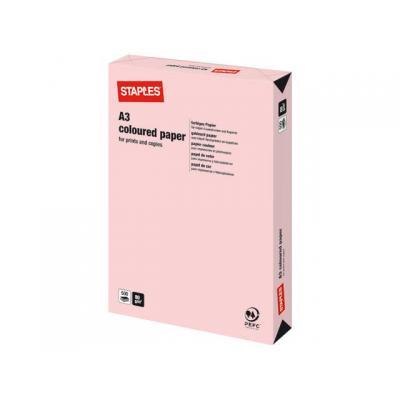 Staples papier: Papier SPLS A3 80g flamingo/pak 500v