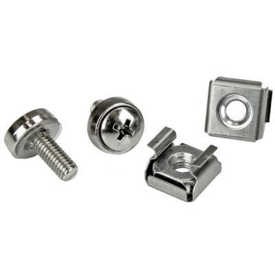 Startech.com schroef en bout: M5 serverkast rack schroeven en M5 kooimoeren 20 stuks - Zilver