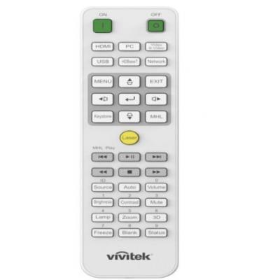Vivitek IR Remote Control for DU7090Z, DW3321, DU3341 Afstandsbediening - Groen, Grijs, Zilver, Wit, Geel