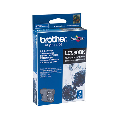 Brother LC-980BK zwart Inktcartridge