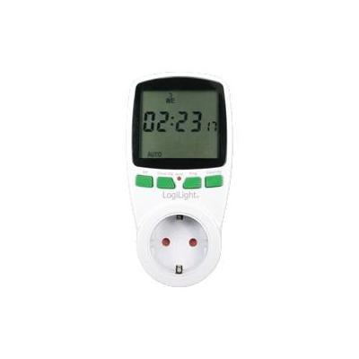 Logilight elektrische timer: Digitale Zeitschaltuhr, 230VAC, 50Hz, 16A, 3680W - Wit