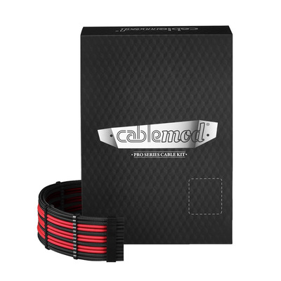 Cablemod RT-Series PRO ModMesh Cable Kit for ASUS and Seasonic - Zwart,Rood
