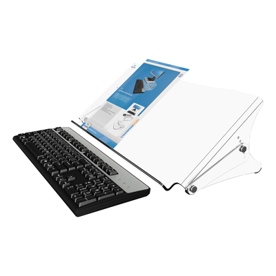 Dataflex Addit ErgoDoc documenthouder - verstelbaar 400, helder acryl Ordner - Transparant