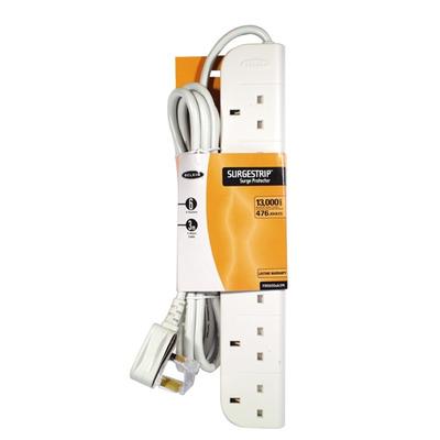 Belkin E-Series 6 Socket, 3-Metre SurgeStrip Surge protector - Wit