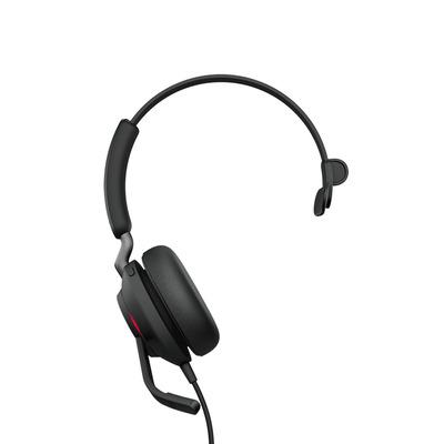 Jabra Evolve2 40, MS Mono, USB-C Headset - Zwart