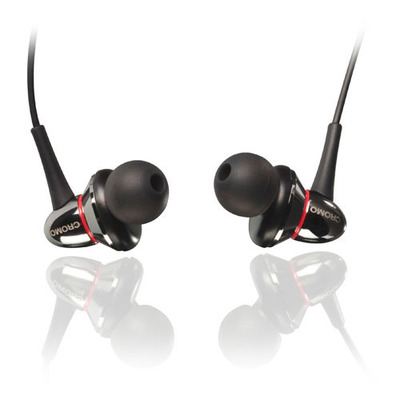 Lindy IEM-75 Headset - Zwart, Chroom