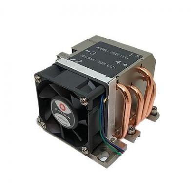 Dynatron 7000 RPM, 50 dB, 40.6 cfm, 80x108x66mm, 430g, Black/Aluminium, Hardware koeling - Aluminium, Zwart