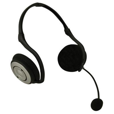 Sweex USB Digital Sound Foldable Neckband Headset - Zwart