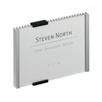 Durable naambord : INFO SIGN 149x105.5mm - Zilver