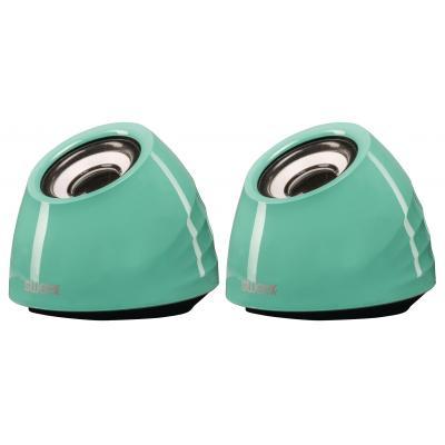 Sweex draagbare luidspreker: 2.0 Speaker Set, USB-Powered, 2 x 3W, Portable, Green - Groen