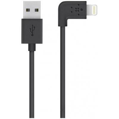 Belkin USB kabel: Flat Lightning - Zwart