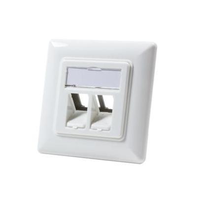 Logilink : Keystone Faceplate f / 2 Keystone Jacks, pure white - Wit
