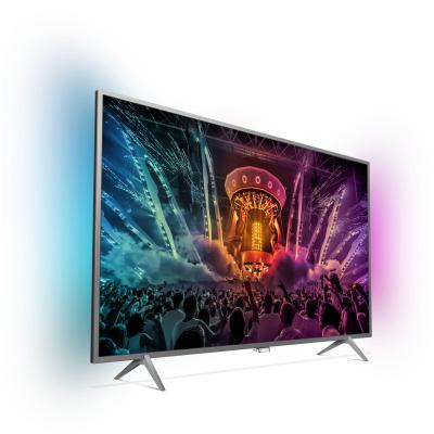 Philips led-tv: 6000 series Ultraslanke 4K-TV met Android TV™ 49PUS6401/12 - Grijs