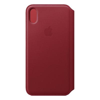 Apple mobile phone case: Leren Folio-hoesje voor iPhone XS Max - (PRODUCT)RED - Rood