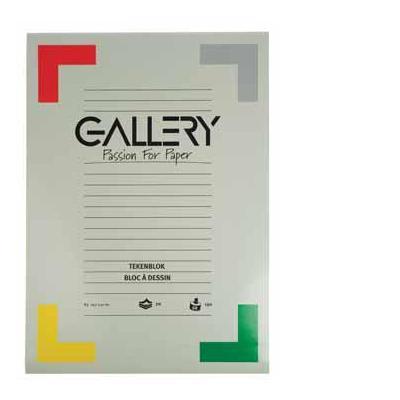 Gallery tekenpapier: TEKENBLOK 190GR 42X29,7 20BL