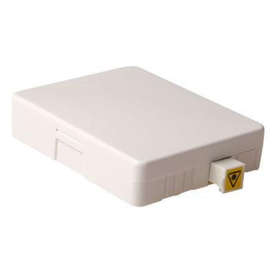 ACT Fiber mounting box met pigtail en SC/APC singlemode adapter Fitting-cove - Wit