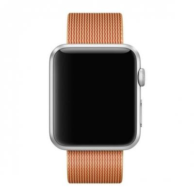 Apple horloge-band: 42mm Gold/Red Woven Nylon - Goud, Rood
