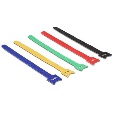 DeLOCK 18636 Kabelbinder - Zwart, Blauw, Groen, Rood, Geel
