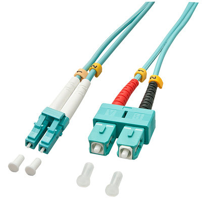 Lindy fiber optic kabel: 1.0m OM3 LC - SC Duplex