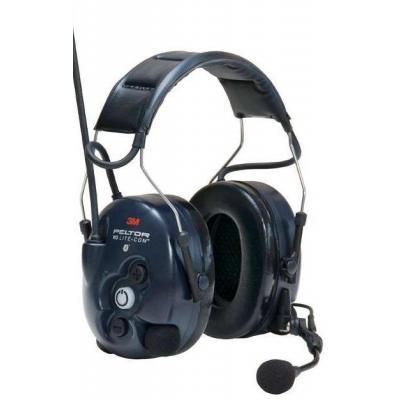 Peltor WS LiteCom Headset, 30dB, Bluetooth, Two-Way radio, 462 g - Zwart, Blauw