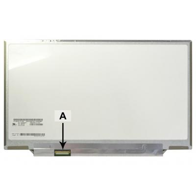 "2-power notebook reserve-onderdeel: 35.56 cm (14 "") 1600x900 LED Matte - Grijs, Wit"