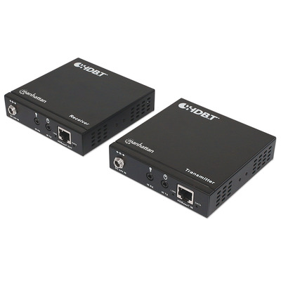Manhattan 4K HDMI HDBaseT over Ethernet Extender Kit, Extends Distances of 4K@30Hz up to 70m and 1080p up to .....