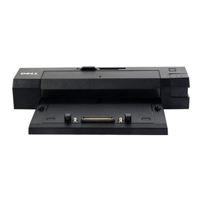 Dell docking station: Port Replicator: UK/Irish Advanced E-Port II with USB 3.0 240W AC Adapter without stand - Zwart