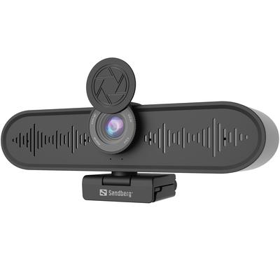 Sandberg All-in-1 ConfCam 4K 4Mic Webcam - Zwart