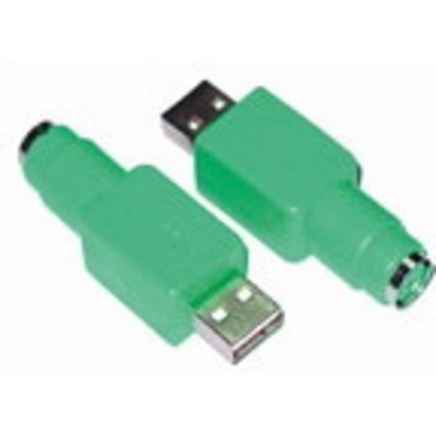 Microconnect USB A/PS/2 M-F Kabel adapter - Groen