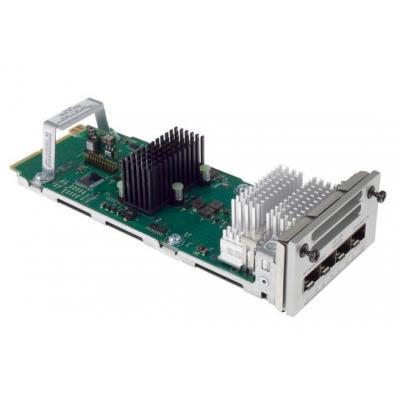 Cisco netwerk switch module: 4 x Gigabit Ethernet/4 x 10 Gigabit Ethernet network module for Catalyst 3850