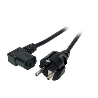 EFB Elektronik Schuko 180° - C13 90° 5m Electriciteitssnoer - Zwart