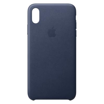 Apple mobile phone case: Leren hoesje voor iPhone XS Max - Middernachtblauw