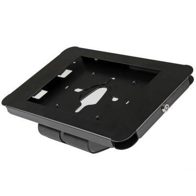 Startech.com : Vergrendelbare tablet houder voor iPad bevestigbaar aan bureau of muur staal - Zwart