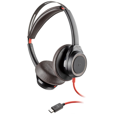 POLY Blackwire 7225 Headset - Zwart, Rood