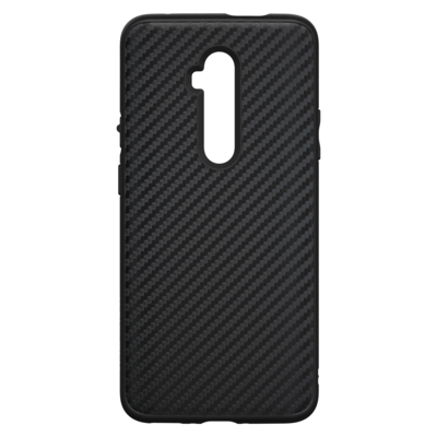 SolidSuit Backcover OnePlus 7T Pro - Carbon Fiber Black - Zwart / Black Mobile phone case